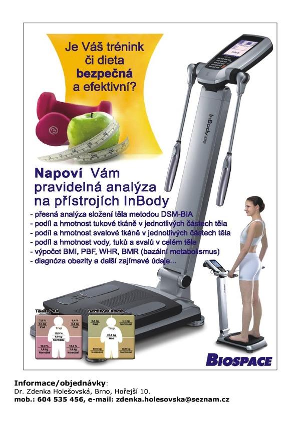 Analýza těla na přístroji In Body 230